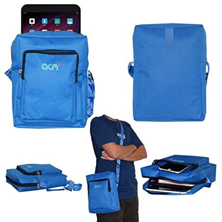 Acm Classic Soft Padded Shoulder Sling Bag Compatible with Xiaomi Mi Pad 3 Carrying Case Dark Blue Tablet Accessories