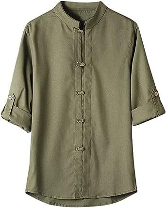 MERICAL - Camisa clásica de Kung-Fu Estilo Chino para Hombre Blanco XXX-Large: Amazon.es: Ropa y accesorios