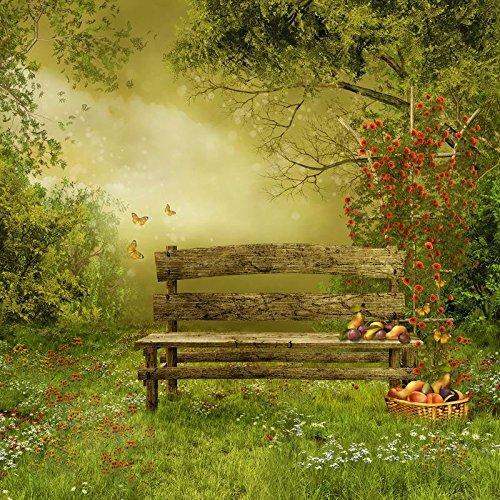 wonderful-garden-lfeey-3x5ft-vinyl-thin-backdrop-photography-green-trees-ans-grass-wood-bench-fruit-