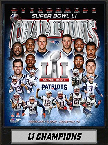 (NFL New England Patriots Super Bowl 51 Champion Double Frame, Assorted Colors, 9