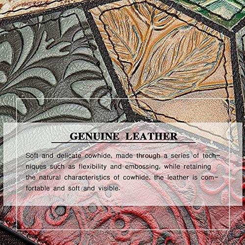 YQYL Sac à Dos géométrique Motif Sac à Dos de Femmes en Cuir Sac à Dos Sac à Dos Femmes Cousu gaufrée Retro Femmes