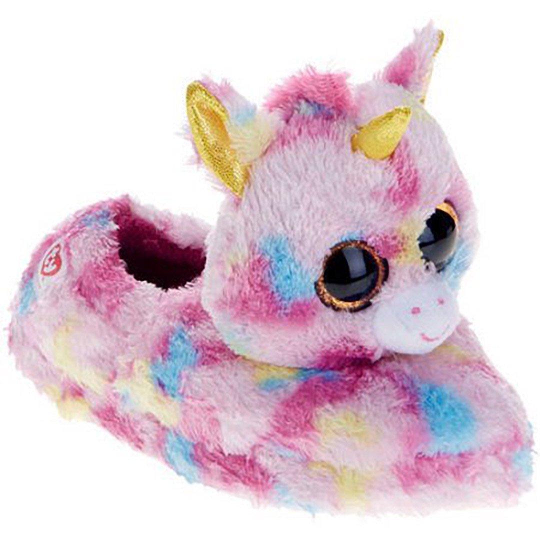 Galleon - Beanie Boo Girls Slippers Faux Fur Fantasia Unicorn Slip On  Children Slipper (Small 10 11) 193e86a2abc