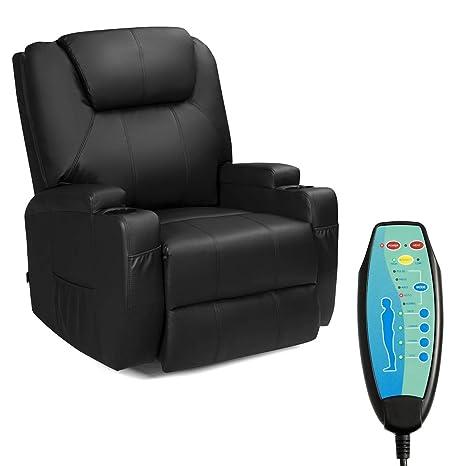 Amazon.com: Tangkula - Silla reclinable de masaje eléctrico ...