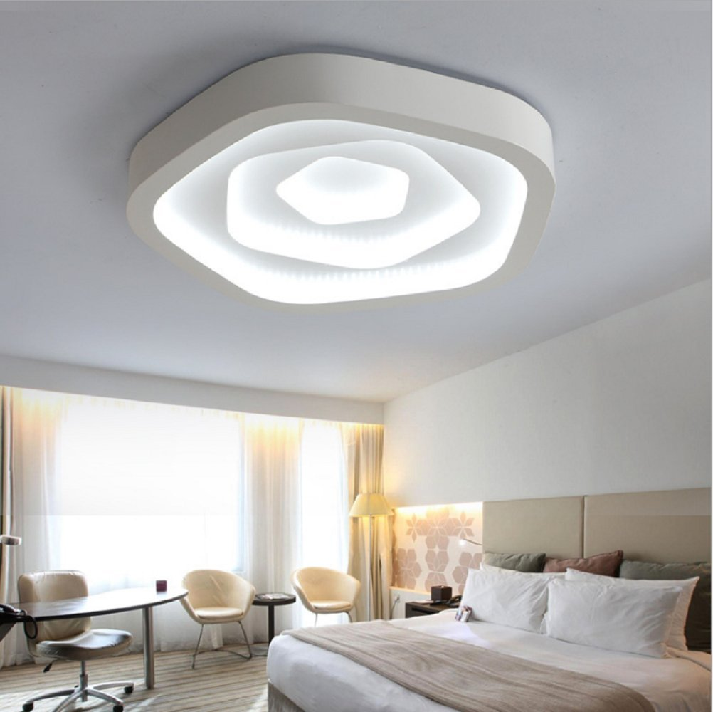 LED Ceiling Lighting 26W Creative Fashion Living Room Lights Star Flush Mount Ceiling Lamp Children's Room Acrylic Ceiling Fixtures D 9inch H 3.9inch White Light Source