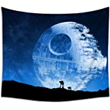 Jacoci Blue Death Star Wall Tapestry Hanging Cool Design for Bedroom Living Room Dorm Handicrafts Curtain Home Decor Size 50x