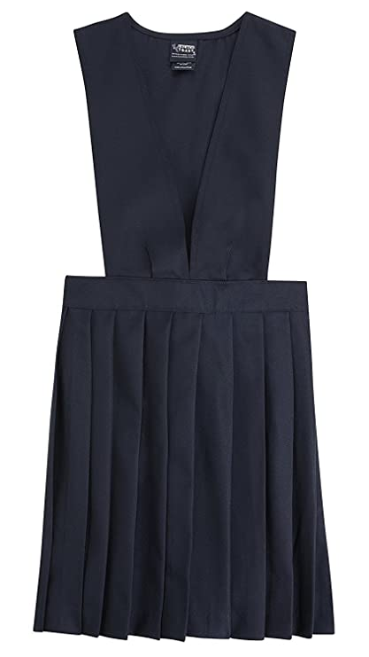 French Toast Girls School Uniforms V-Neck Pleated Jumper 3T Navy