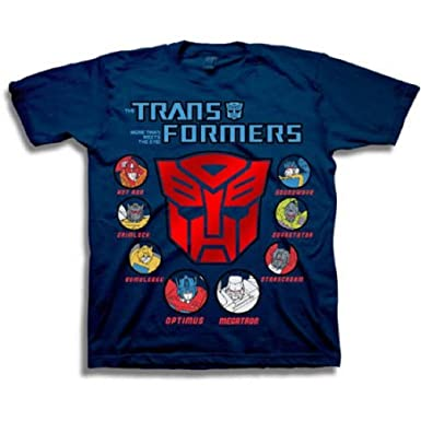 57dcea1bc797e Transformers Boys' Autobots Character Icons Short Sleeve Graphic Tee T-Shirt