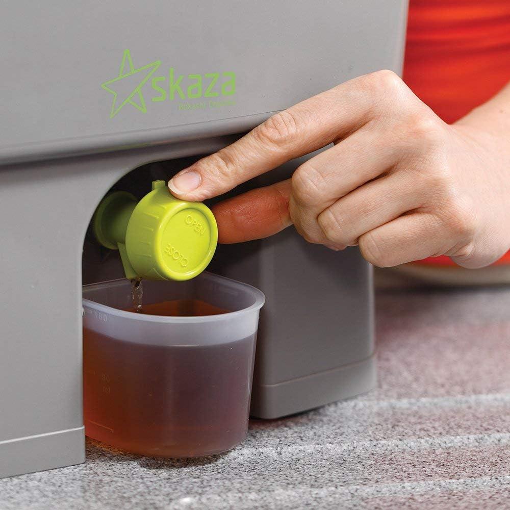 Skaza Bokashi Organko (16 L) Compostador de Jardín y Cocina de Plástico Reciclado | Starter Set con EM Bokashi Polvo 1 Kg. (Gris-Verde): Amazon.es: Jardín