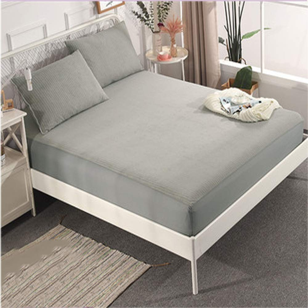 Zhengtufuzhuang Cotton Waterproof Bed Li Single Piece/Urine Isolation Anti-mite Simmons/Brown Advance Grey Reliable Quality (Size : 120200cm) by Zhengtufuzhuang