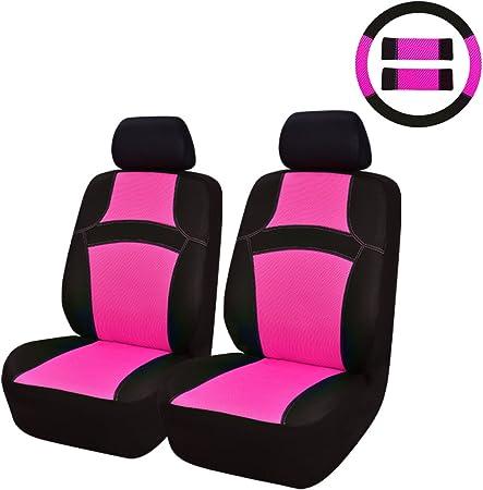 Car Pass Regenbogen Passform Universal Auto Sitzbezug 100 Atmungsaktiv Mit Airbag System Rosa Auto