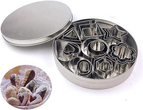 Rectangulaire Moule /à Biscuits G/éom/étrique Rond Moule de Coupe en Acier Inoxydable Coupe P/âtisserie Digead 12 pcs Emporte-Pi/èces
