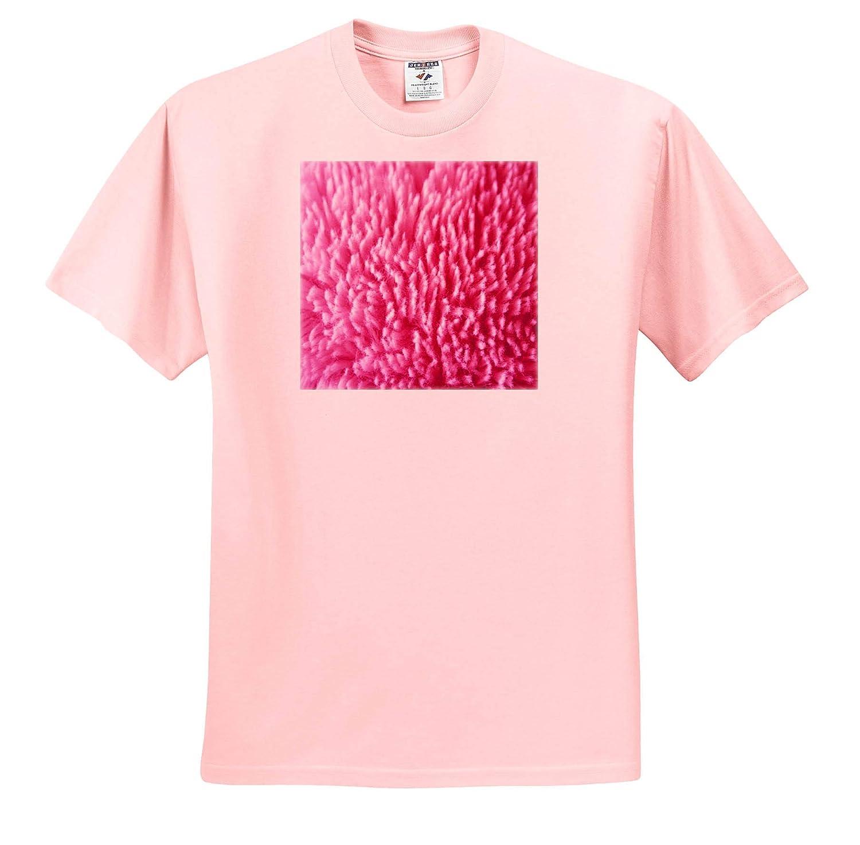 Plush Textures Image of Closeup of Pink Soft Shaggy Rug Fibers 3dRose Lens Art by Florene Adult T-Shirt XL ts/_320774