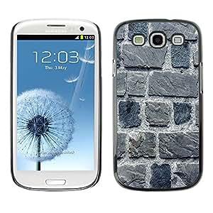 TECHCASE**Cubierta de la caja de protección la piel dura para el ** Samsung Galaxy S3 I9300 ** Stone Wall Gray House Building Macro