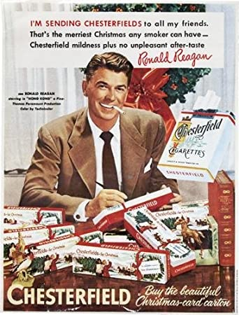 Amazon.com: Reagan Ronald Chesterfield Cigarettes Ad Mini Poster ...