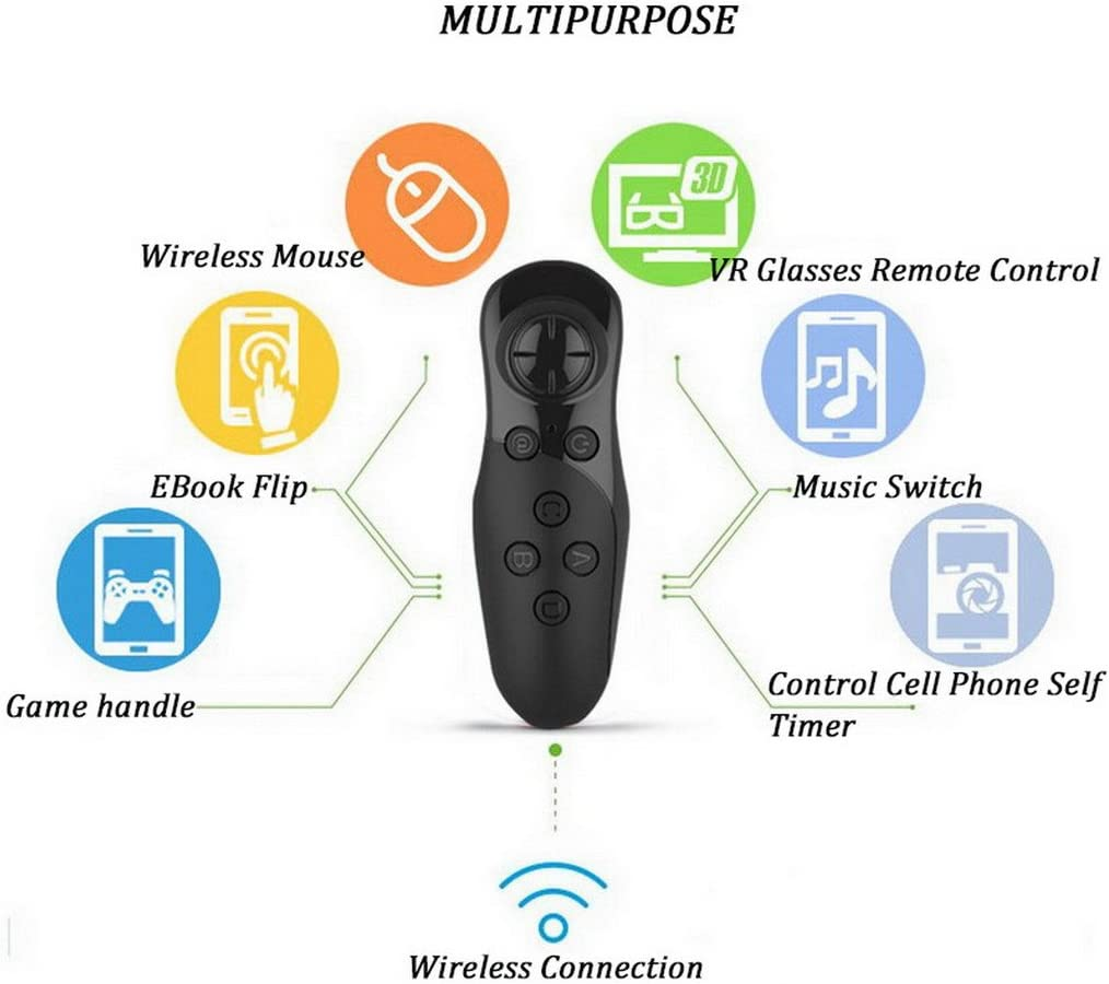 Universal Wireless Gamepad Remote With 2 Aaa Battery The Control Device Has Four Modes Toggle For King Of Glory Pc Tablet Mobile Game Video Music Selfie Mouse Easy