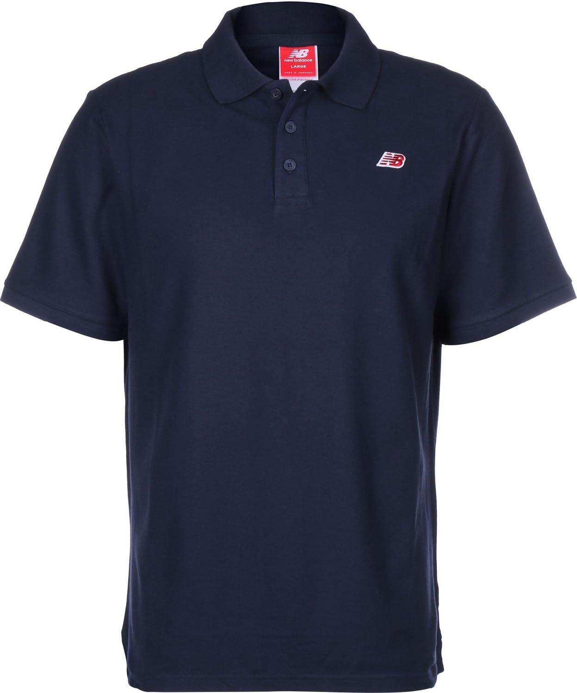 NEW BALANCE Cotton Pique Polo de Hombre, azul, extra-large: Amazon ...