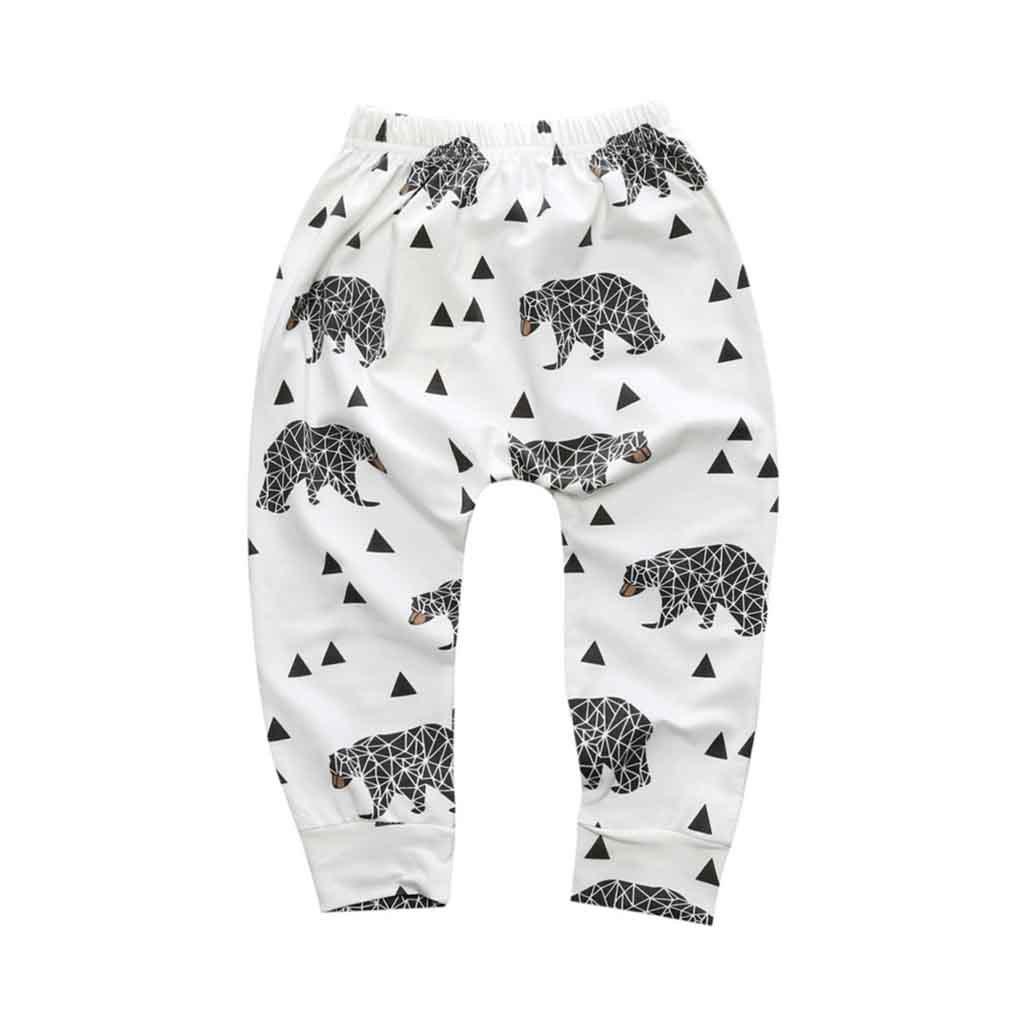 daqinghjxg New Arrival Geometric Pattern Baby Cotton Trousers Babys Boys Girls PP Pants
