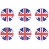 Bloomeet Tennis Vibration Dampener - 6 Pack England Flag Tennis Shock Absorbers for Tennis Racket Strings, Best for Tennis Racquet, Durable & Long-Lasting, Great for Tennis Players, Sold