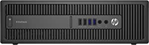 HP EliteDesk800 G1 SFF - Ordenador de sobremesa (Intel Core I5-4570 3.2 GHz, 8GB de RAM, Disco SSD 240GB, Lector DVD, Windows 10 Pro) Negro (Reacondicionado)