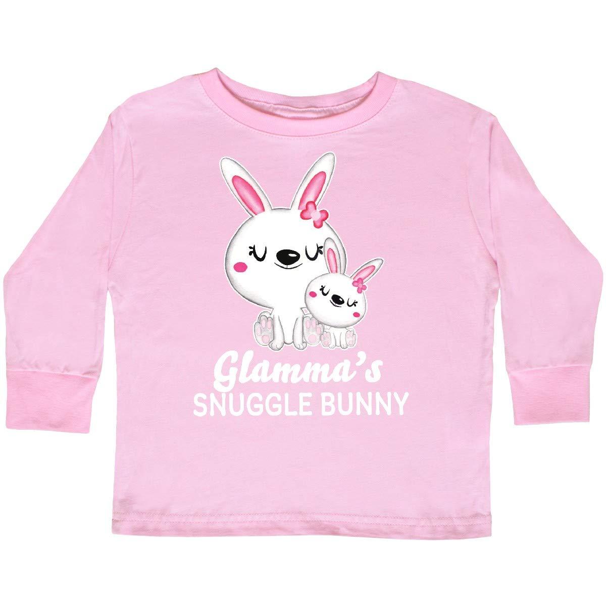 inktastic Glammas Snuggle Bunny Easter Toddler Long Sleeve T-Shirt