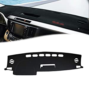 GTINTHEBOX Custom Fit Dashboard Black Center Console Cover Dash Mat Protector Sunshield Cover Pad for 2013 2014 2015 2016 2017 2018 Toyota RAV4