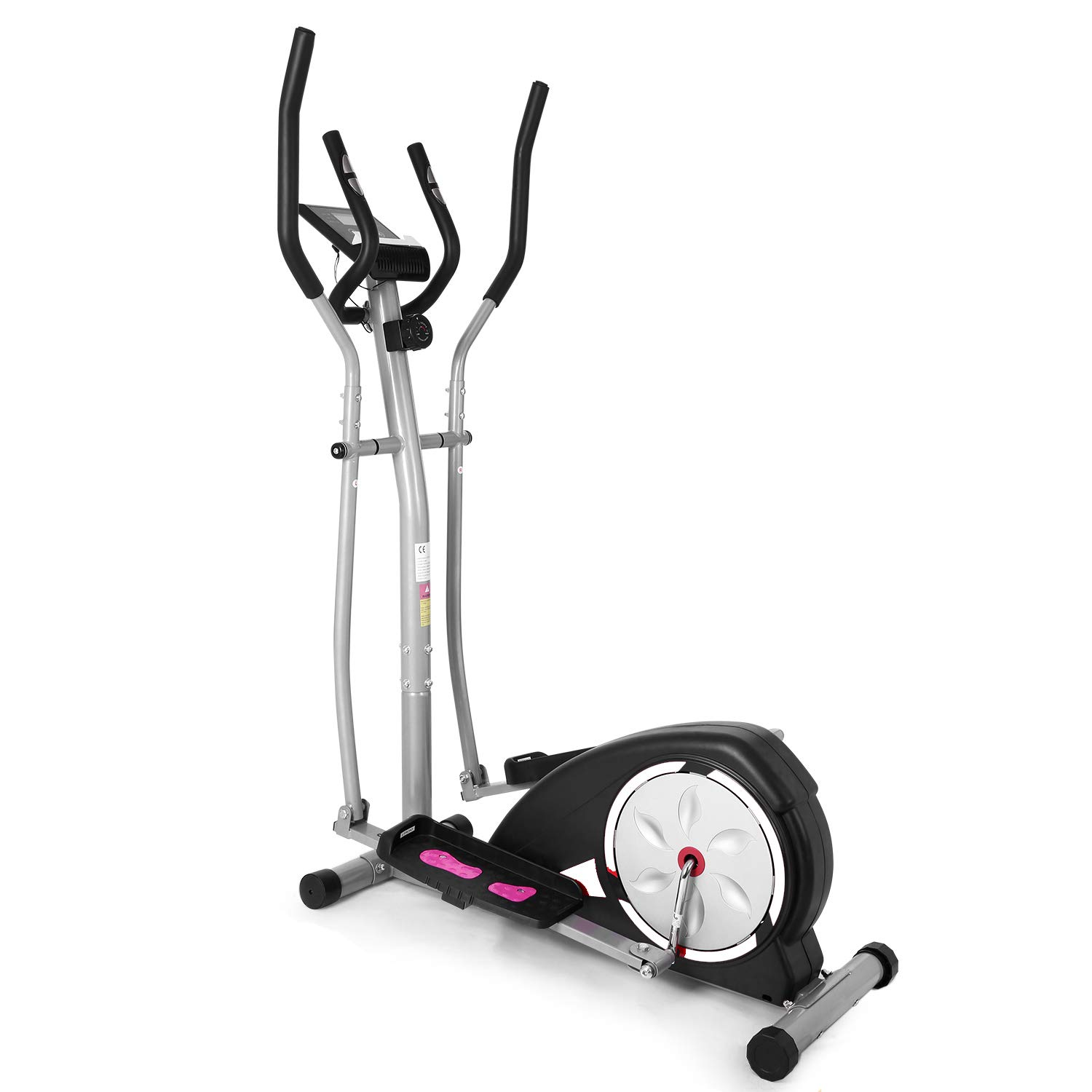 ncient Elliptical Machine Eliptical Trainer Exercise Machine for Home Use Magnetic Smooth Quiet Driven with LCD Monitor and Pulse Rate Grips (White) by ncient