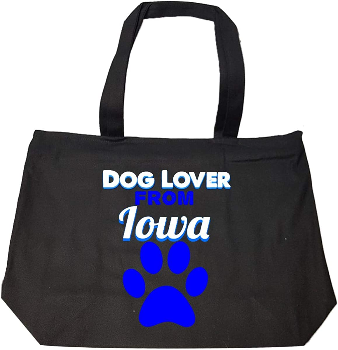 Dog Lover From Iowa Tote Bag With Zip