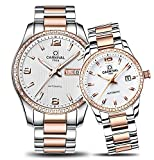 CARNIVAL Couple Watches Men and Women Automatic Mechanical Watch Chic Dress for Her or His Set of 2