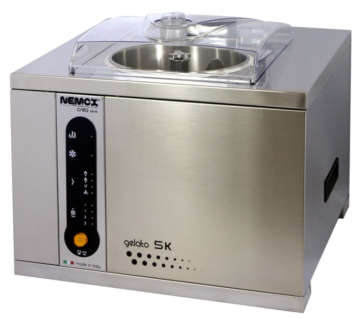 Nemox Pro 5K Crea Fully Automatic Commercial Tabletop Gelato/Ice Cream Maker with Conservation, 18.9'' Length