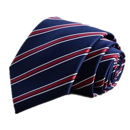 Corbata Moda Tie Clip Suit Joker Deep Blue, Rojo y Blanco, Modelo ...
