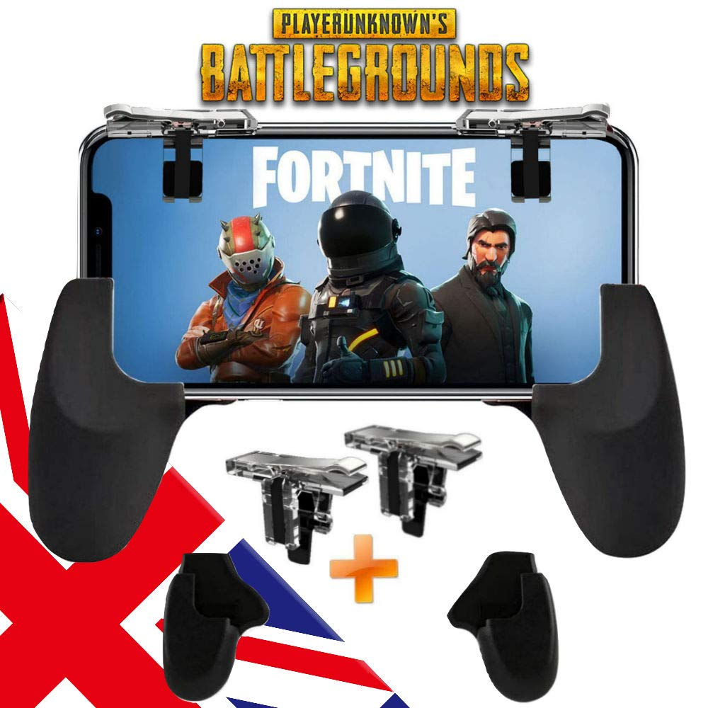 PUBG Mobile Game Controller, Shoot and Aim Fire Trigger Keys L1R1, for  PUBG/Fortnite/Rules of Survival/Knives Out Joysticks for iPhone Android  Phones