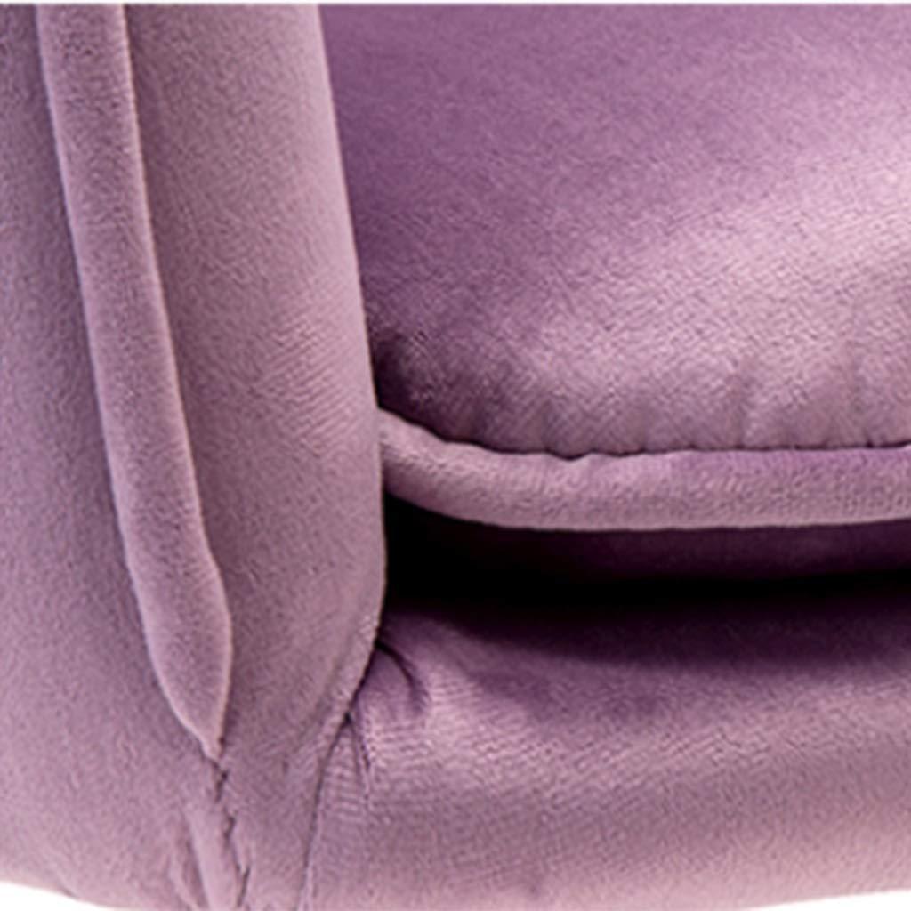 HEJINXL Matstolar, hudvänlig flanelltygsits och elektropläterad titan guldfötter vardagsrum stol kök möbler köksstolar uppsättning med 2 (färg: D) E