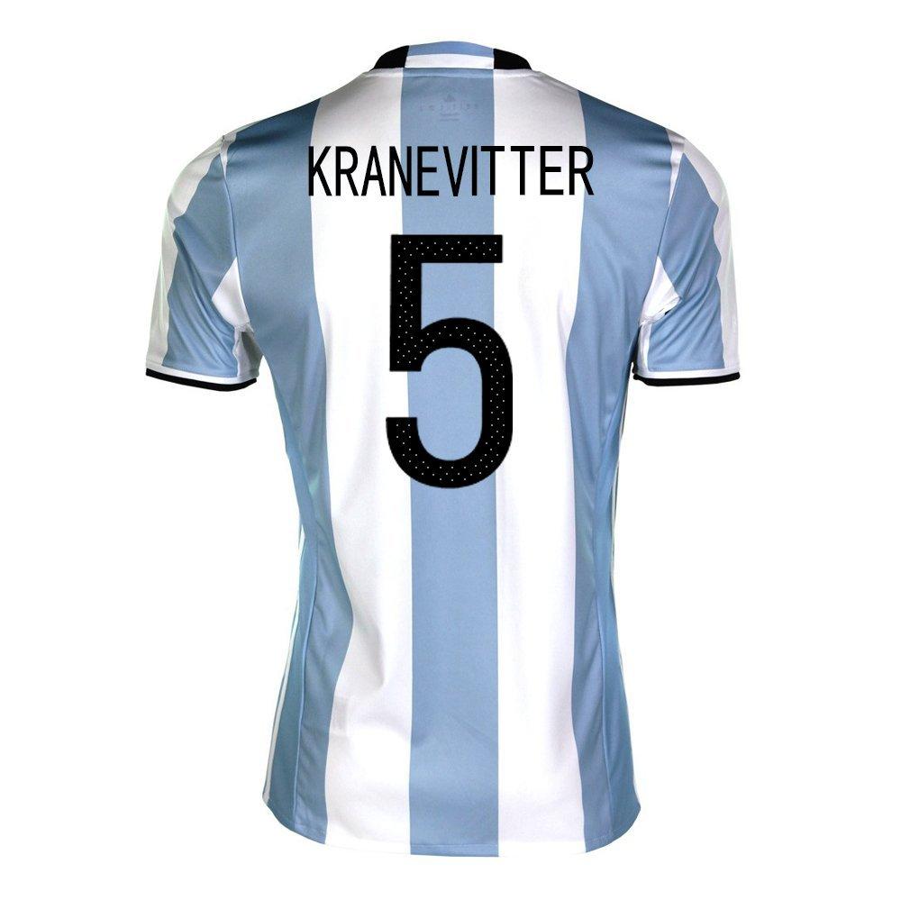 Kranevitter #5 Argentina Home Soccer Jersey Copa America Centenario 2016/サッカーユニフォーム アルゼンチン ホーム用 クラネビッテル 背番号5 B01FN9UDJU X-Large