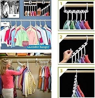 Zooarts 8pcs Portable Space Saver Wonder Magic Hanger Coat Clothes Closet  Organizer Storage Hanging Hooks