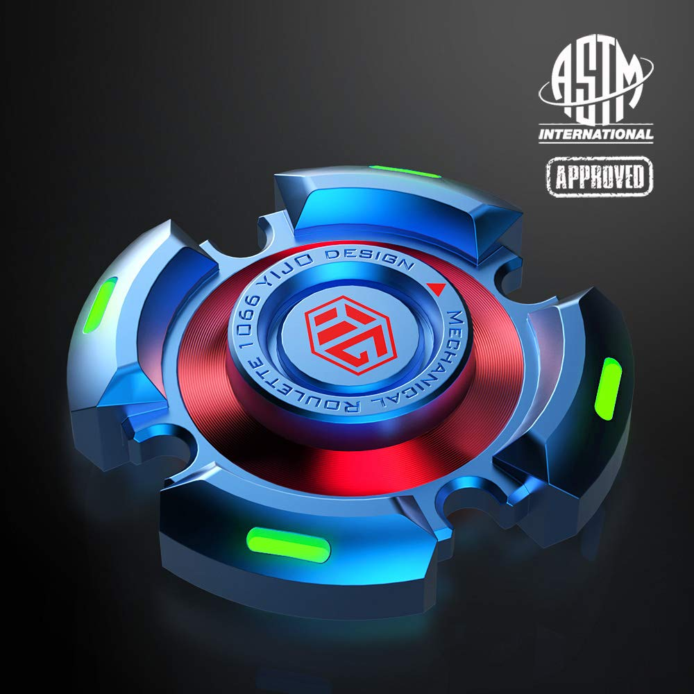 Fidget Spinner Need Absorb Light then Release in Dark Fidget Spinners Stress Anxiety ADHD Relief Figets Toy Metal Finger Hand Spinner Toys with Luminous Light Fidget Spinner for Adults and Kids