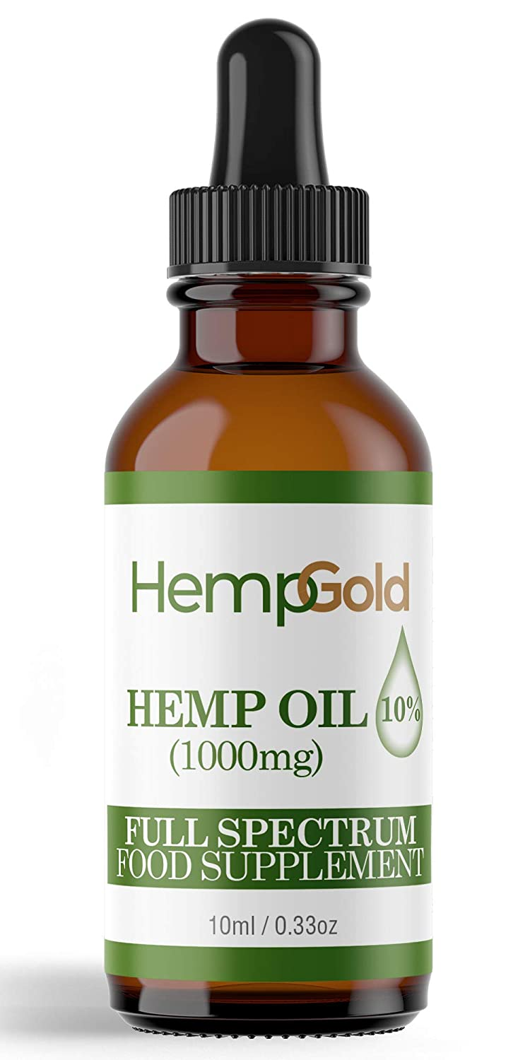 Hemp Oil Drops | 5% 500mg | CO2 Extracted | Full Spectrum | Natural Anti Inflammatory | Reduces Pain, Anxiety and Stress. Helps with Sleep, Mood, Skin and Hair HempGold
