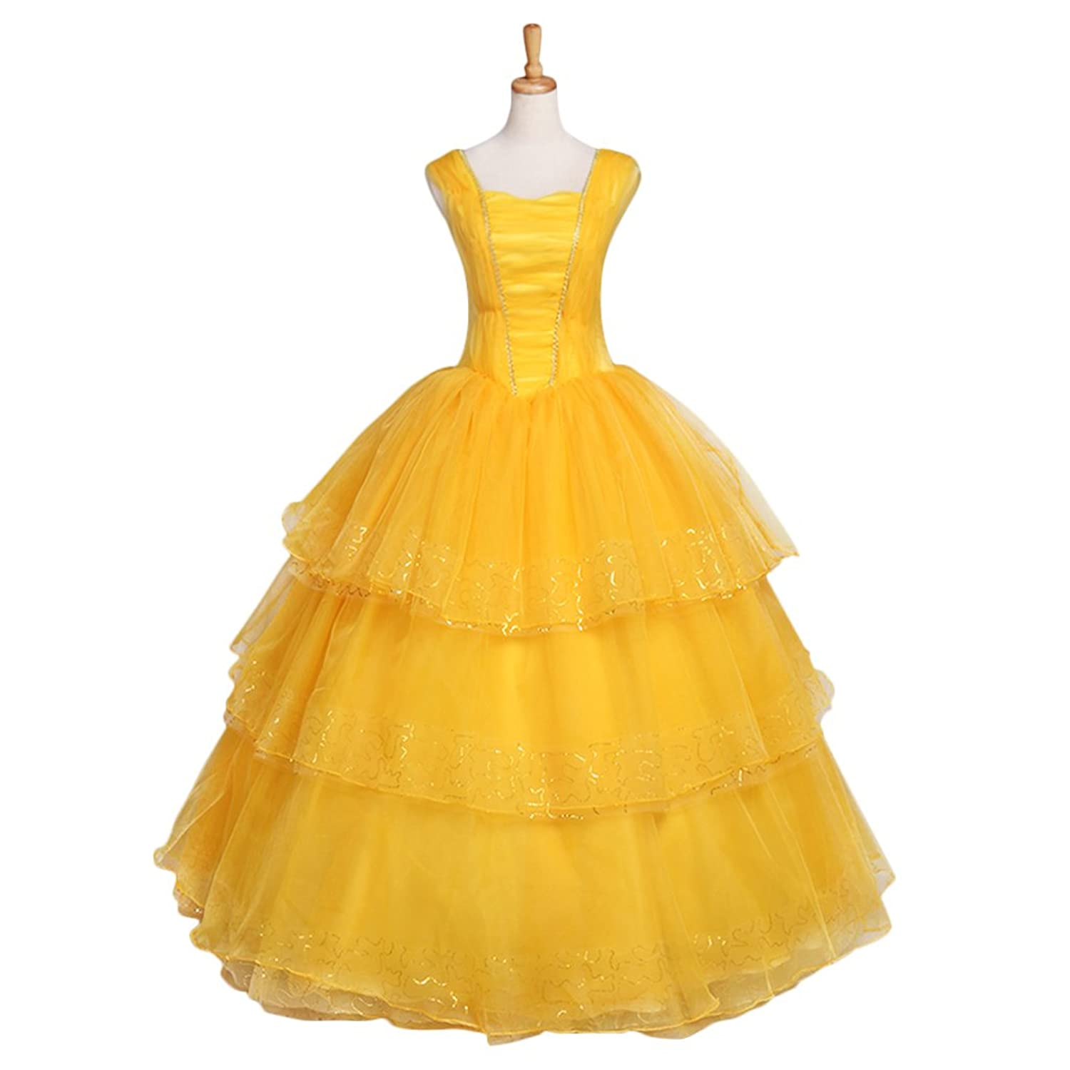 CosplayDiy Women's Dress for Beauty and the Beast Princess Belle Cosplay New Style Emma Watson