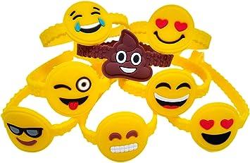 Amazon.com: OHill - Paquete de 48 pulseras de emoticonos ...