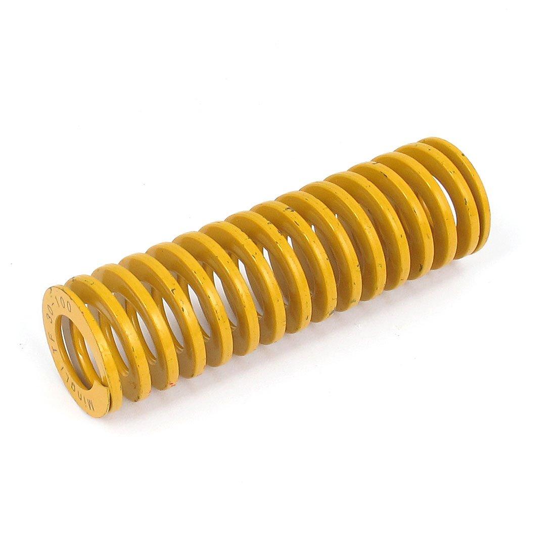 sourcingmap® 30mm OD 100mm lange leichte Last Spiral Stanzen Kompression Die Feder gelb sourcing map a15102700ux0991