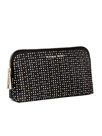 334439d0f7 Image Unavailable. Image not available for. Color  Victoria s Secret Studded  Cosmetic Bag Black