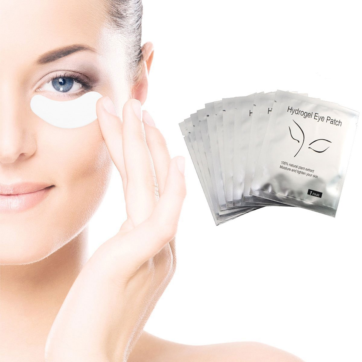 Under Eye Pads - 50 Pair Set Lint Free Eyelash Extension Supplies Eye Patch Under Eye Gel Paper Patches (FOX 50) LADES