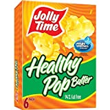 microwave fat free popcorn - Jolly Time Healthy Pop Butter 94% Fat Free Weight Watchers Microwave Popcorn, 6-Count Boxes (Pack of 6)