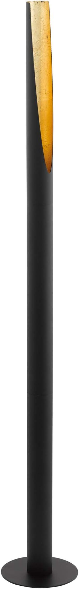 EGLO 97584 Lampe sur pied, Acier, GU10, 5 W, Noir, Or