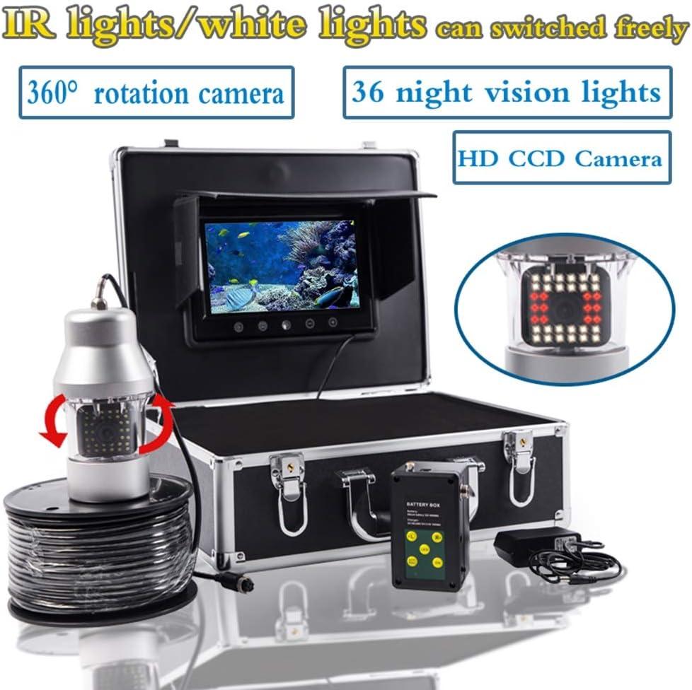 7インチ水中魚群探知機360度HD水中カメラTFTカラーディスプレイCCDとHD 1000TVLカメラ,20m  20m