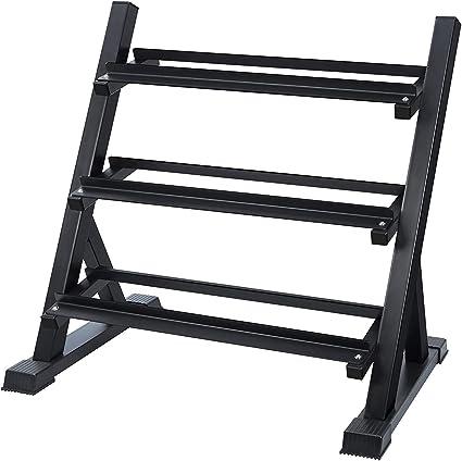 color negro multifuncional para el hogar resistente peque/ño soporte para discos de pesas Soporte para mancuernas cortas