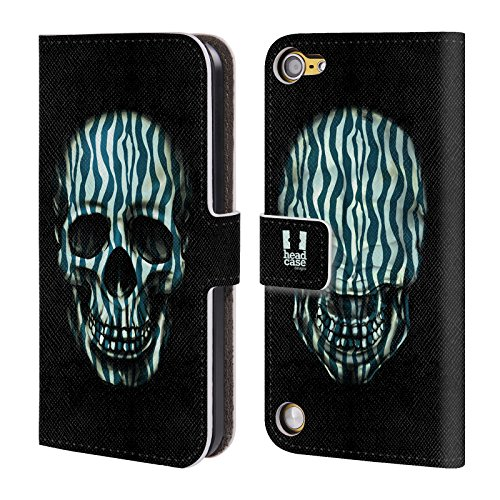 Head Case Designs Zebra Teschi Animali Stampe Cover a portafoglio in pelle per iPod Touch 5th Gen / 6th Gen