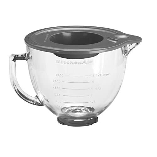 KitchenAid 5K5GB Glass Bowl, 4.8 Litre (Optional Accessory for KitchenAid Stand Mixers)