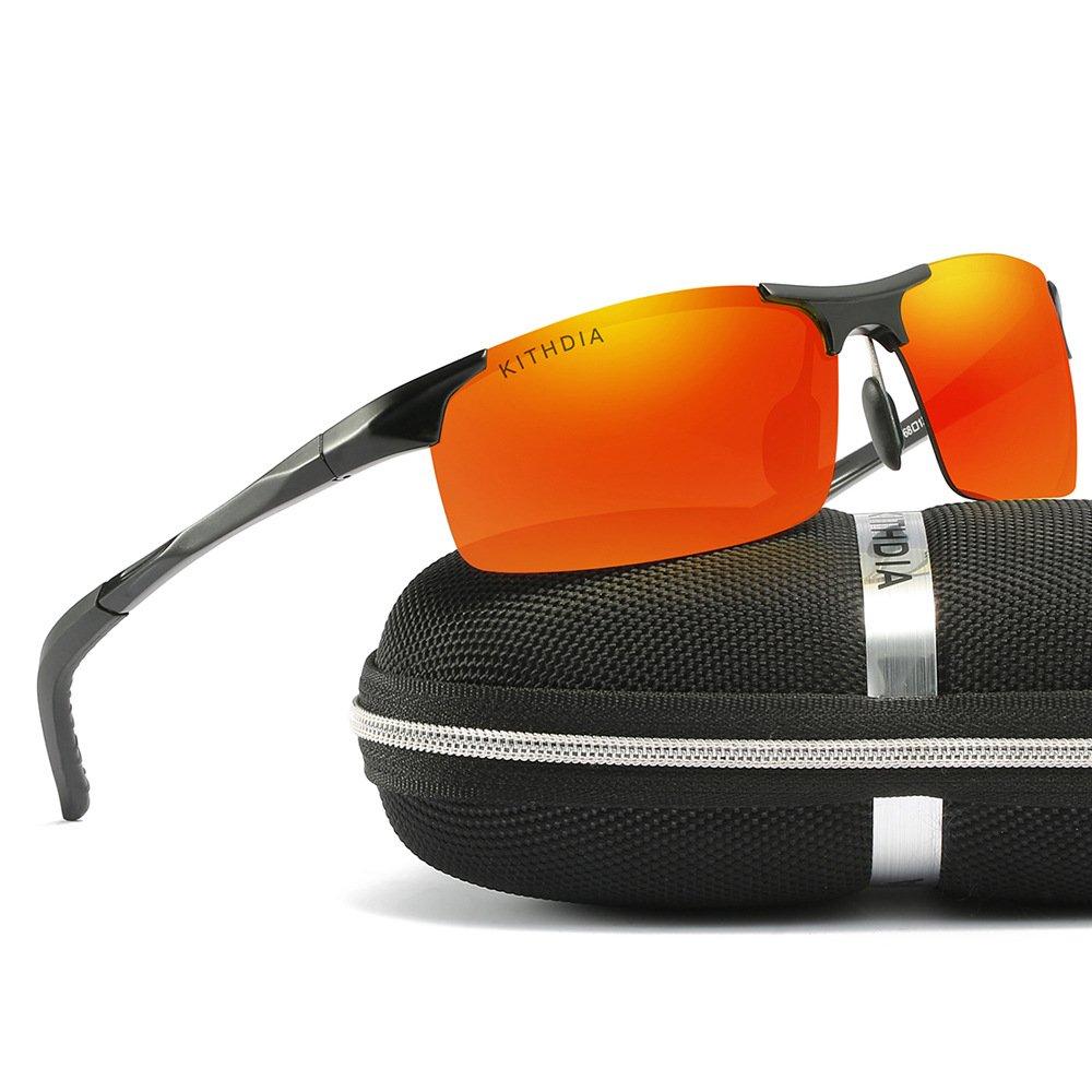 472043a4fc3 Amazon.com  KITHDIA Driving Polarized Sunglasses For Men UV Protection  Lightweight Al-Mg Golf Fishing Metal Sunglasses  Clothing
