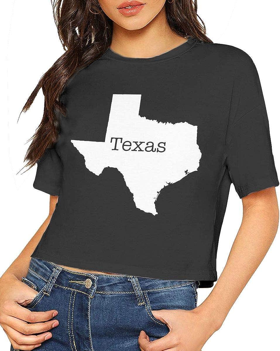 Short Sleeve Tops Blouse for Women Womens Hurricane Harvey Relief Crop Tops Shirt