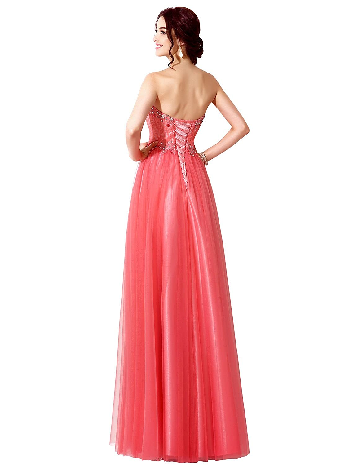 Sarahbridal Women Ball Gowns Strapless Long Prom Dress Tulle Wedding Party Dresses with Sequins for Teenagers SSD085: Amazon.co.uk: Clothing